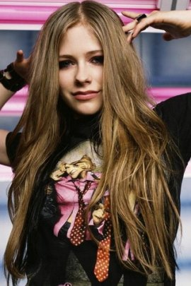 Avril Lavigne playful (click to view)