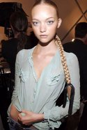 Gemma Ward backstage