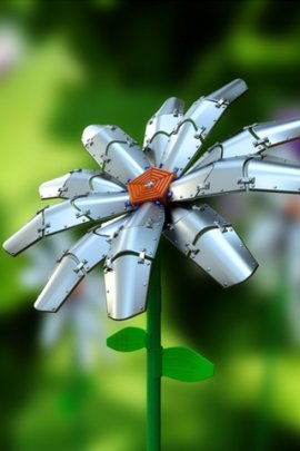 Metal daisy (click to view)